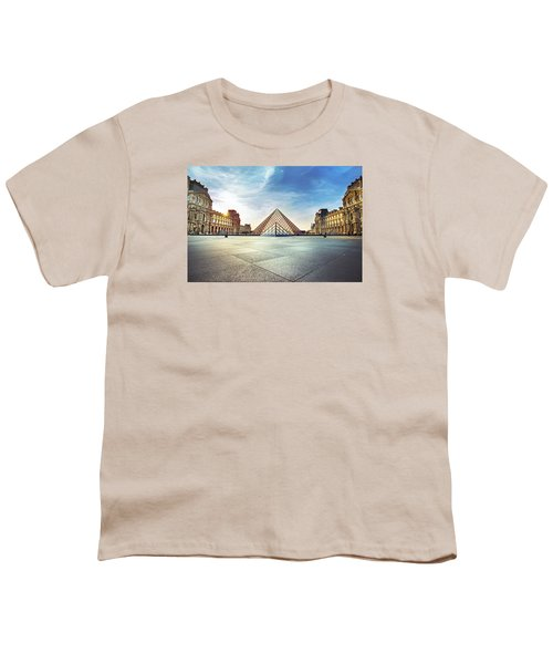 Louvre Museum Youth T-Shirt by Ivan Vukelic
