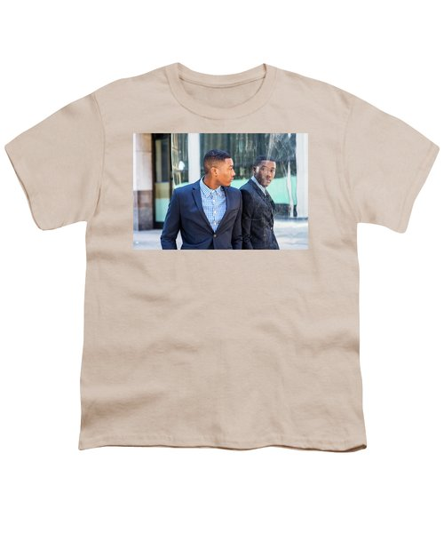 Man Looking At Mirror Youth T-Shirt