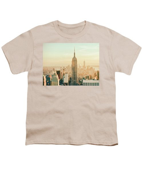 New York City - Skyline Dream Youth T-Shirt by Vivienne Gucwa