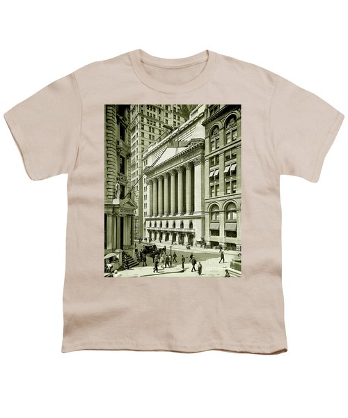 New York Stock Exchange Under Construction 1903 Youth T-Shirt