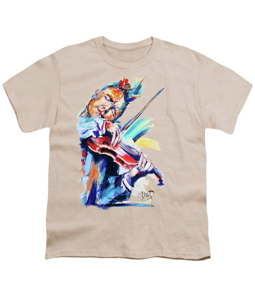 Nigel Kennedy Youth T-Shirt by Melanie D