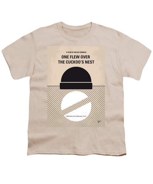 No454 My One Flew Over The Cuckoos Nest Minimal Movie Poster Youth T-Shirt by Chungkong Art