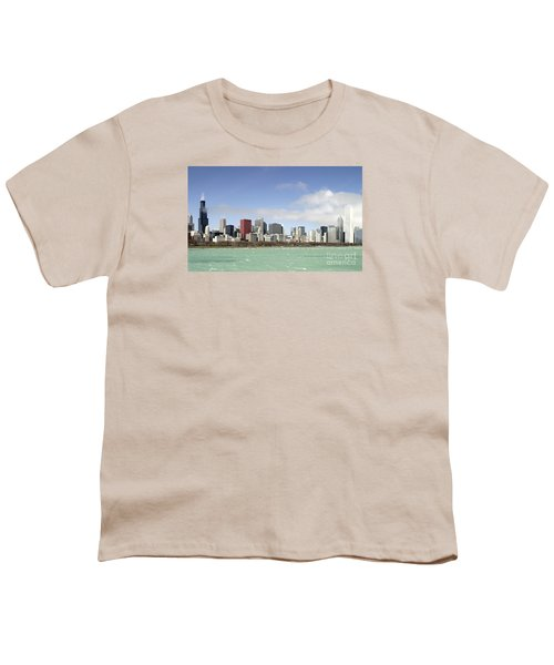 Youth T-Shirt featuring the photograph Off The Shore Of Chicago by Ricky L Jones