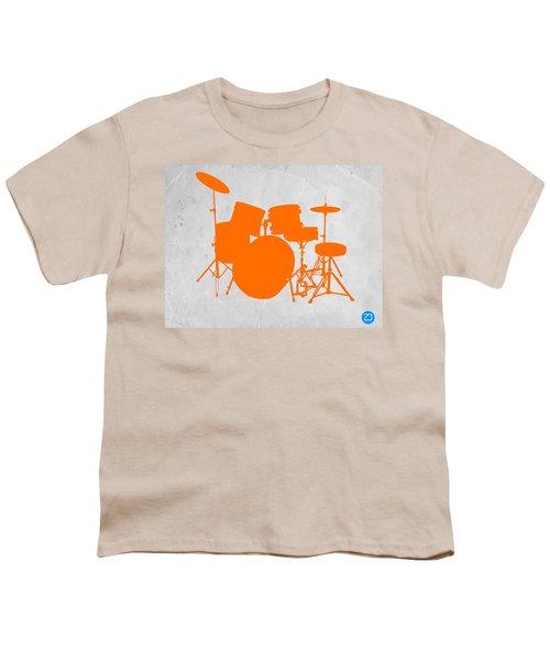 Orange Drum Set Youth T-Shirt