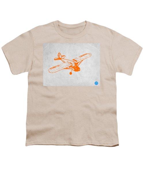 Orange Plane 2 Youth T-Shirt by Naxart Studio