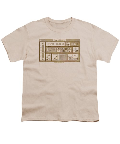 Original Mac Computer Control Panel Circa 1984 Youth T-Shirt by Design Turnpike