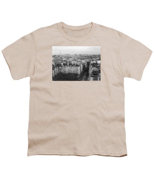 Paris In The Rain  Youth T-Shirt