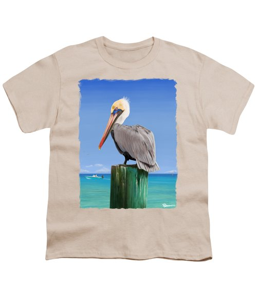 Pelicans Post Youth T-Shirt by Kevin Putman