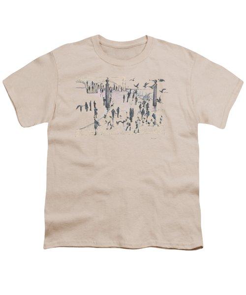 People And Birds, 19 December, 2015 Youth T-Shirt by Tatiana Chernyavskaya