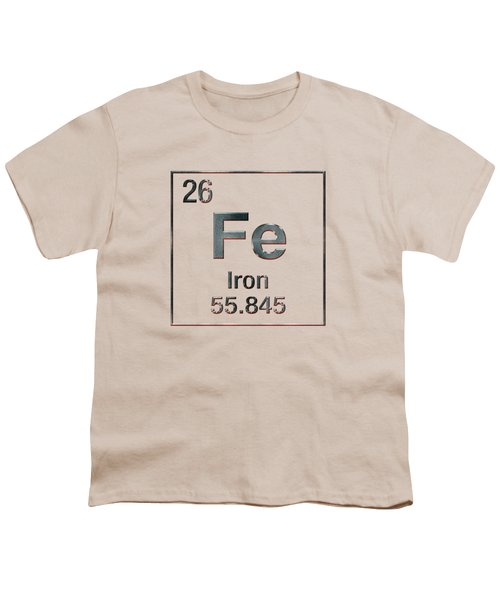 Periodic Table Of Elements - Iron Fe Youth T-Shirt