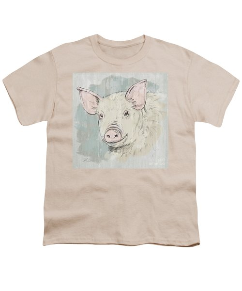 Pig Portrait-farm Animals Youth T-Shirt