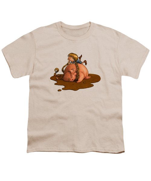 Pig Tales Youth T-Shirt by Andy Catling