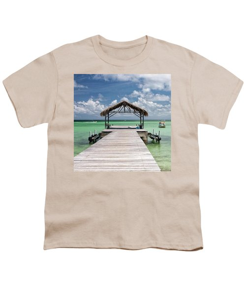 Pigeon Point, Tobago#pigeonpoint Youth T-Shirt by John Edwards