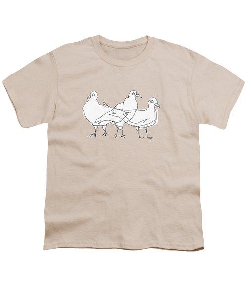 Pigeons Youth T-Shirt by Matt Mawson
