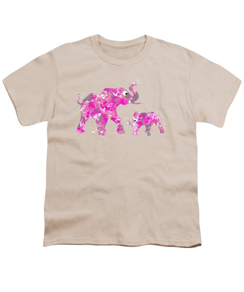 Pink Elephants Youth T-Shirt by Christina Rollo