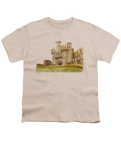 Ponferrada Templar Castle  Youth T-Shirt by Angeles M Pomata