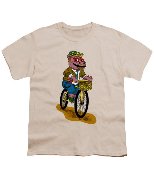 Pun Intended - Hipsterpotamus - Hipsters- Funny Design Youth T-Shirt by Paul Telling