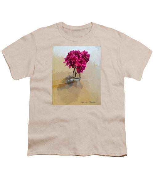 Purple Dahlias Youth T-Shirt by Melissa Abbott