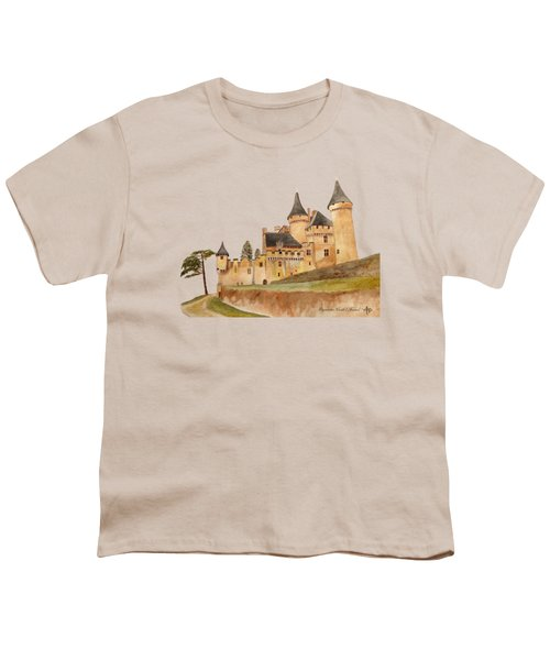 Puymartin Castle Youth T-Shirt by Angeles M Pomata