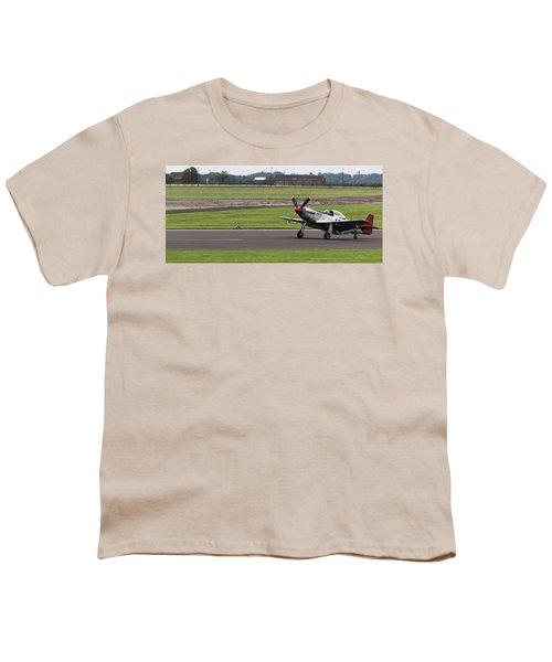 Raf Scampton 2017 - P-51 Mustang Landing Youth T-Shirt