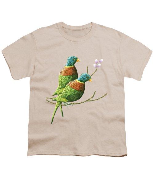 Rainbow Lorikeet Of Australia B Youth T-Shirt by Thecla Correya