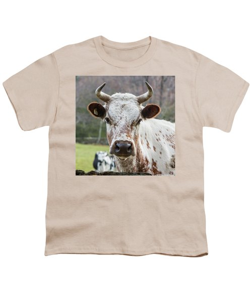 Youth T-Shirt featuring the photograph Randall Cow by Bill Wakeley