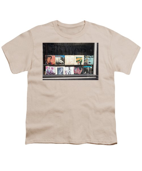 Record Store Burlington Vermont Youth T-Shirt by Edward Fielding