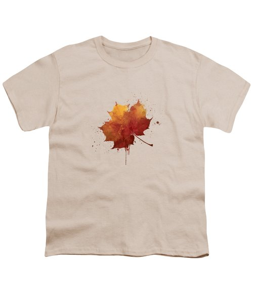 Red Autumn Leaf Youth T-Shirt