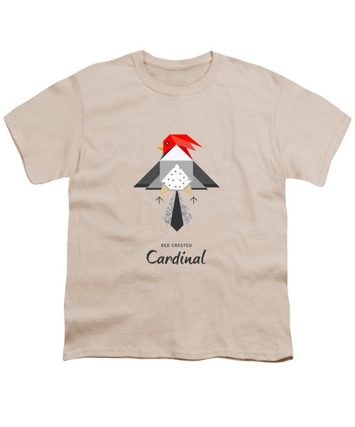 Red-crested Cardinal Minimalist Youth T-Shirt by BONB Creative