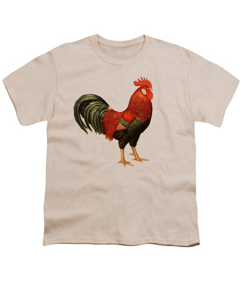Red Leghorn Rooster Youth T-Shirt