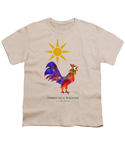 Rooster Pattern Art Youth T-Shirt