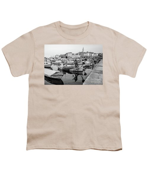 Rovinj Fisherman Working In Old Town Harbor - Rovinj, Istria, Croatia Youth T-Shirt
