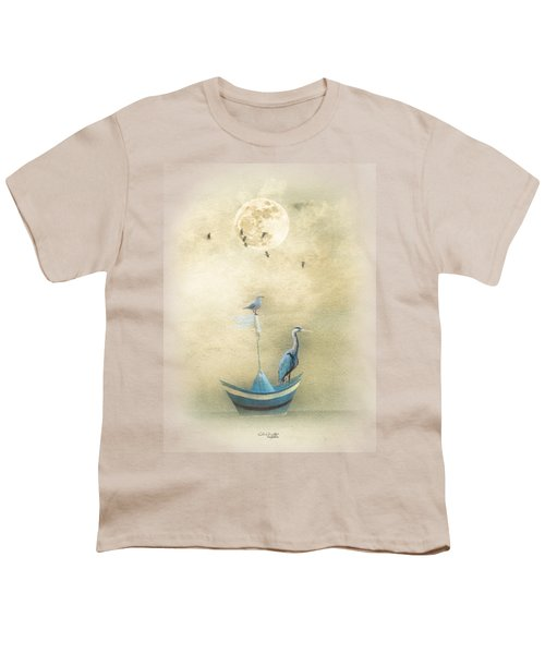Sailing By The Moon Youth T-Shirt by Chris Armytage