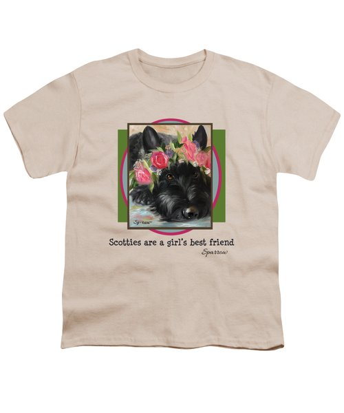 Scotties Are A Girl's Best Friend Youth T-Shirt