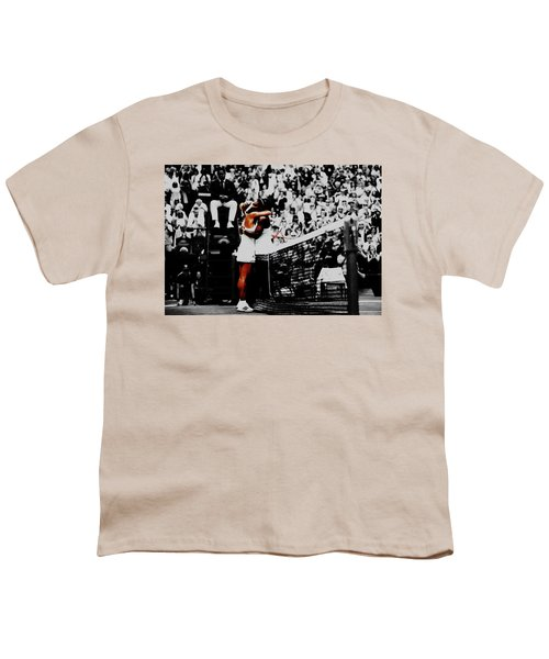 Serena Williams And Angelique Kerber Youth T-Shirt by Brian Reaves