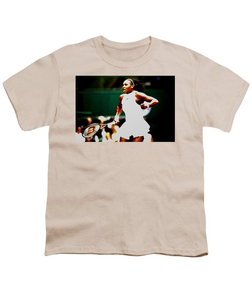Serena Williams Making History Youth T-Shirt by Brian Reaves