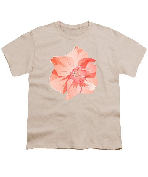 Short Trumpet Daffodil In Warm Pink Youth T-Shirt