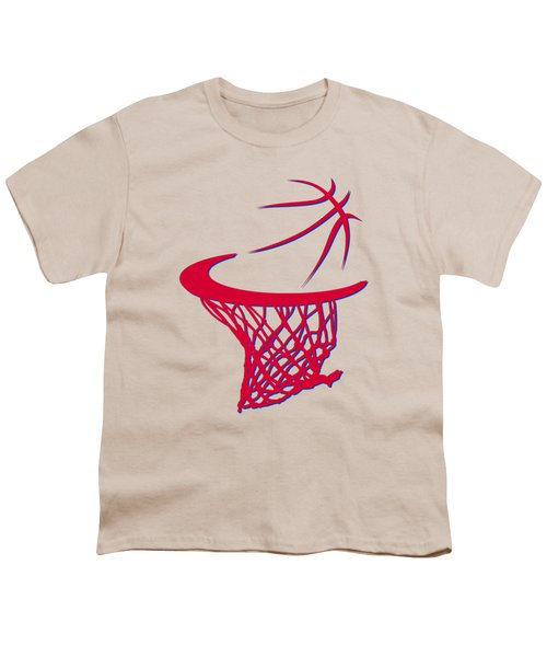 Sixers Basketball Hoop Youth T-Shirt by Joe Hamilton