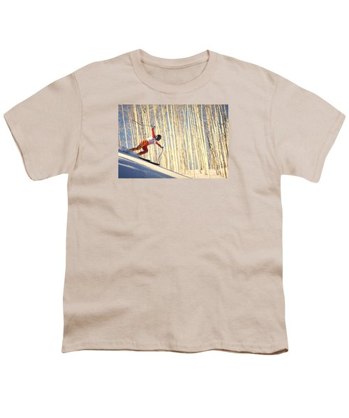 Skiing In Aspen, Colorado Youth T-Shirt