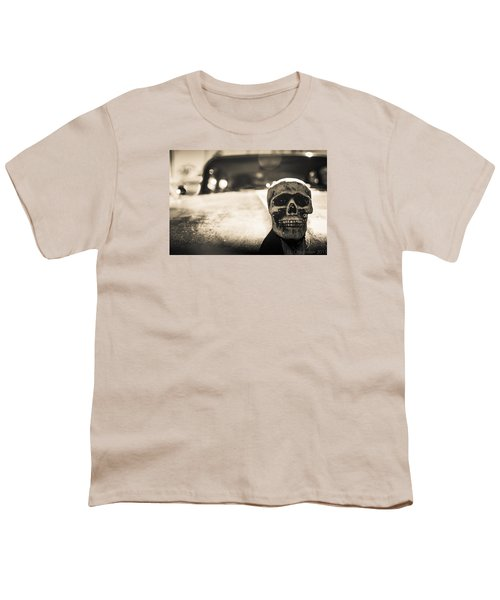 Youth T-Shirt featuring the photograph Skull Car by Lora Lee Chapman