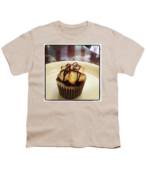 Youth T-Shirt featuring the photograph smore Miniature Cupcake N Coffee by Mr Photojimsf