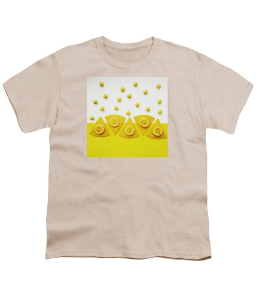Yellow Snack Youth T-Shirt by Ann Foo