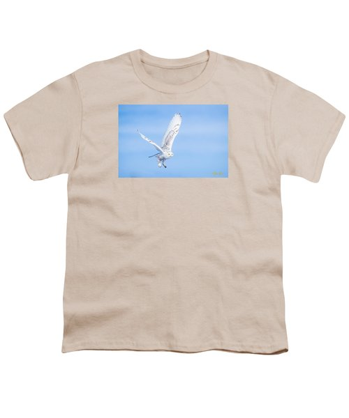 Youth T-Shirt featuring the photograph Snowy Owls Soaring by Rikk Flohr