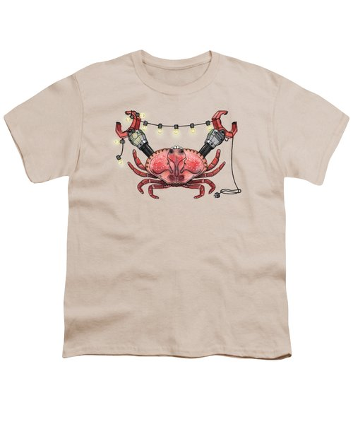 So Crabby Chic Youth T-Shirt by Kelly Jade King