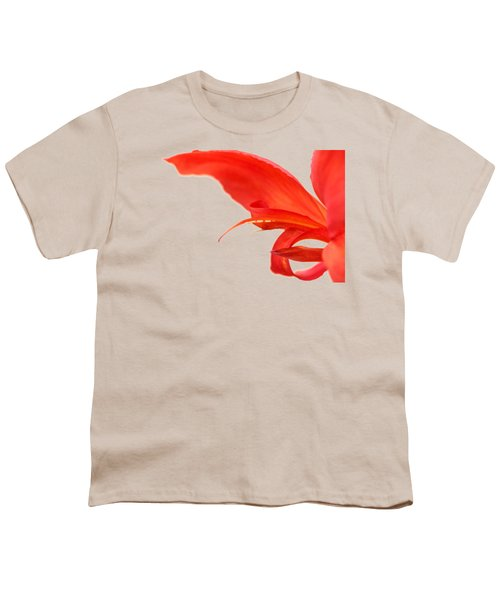 Softly Red Canna Lily Youth T-Shirt