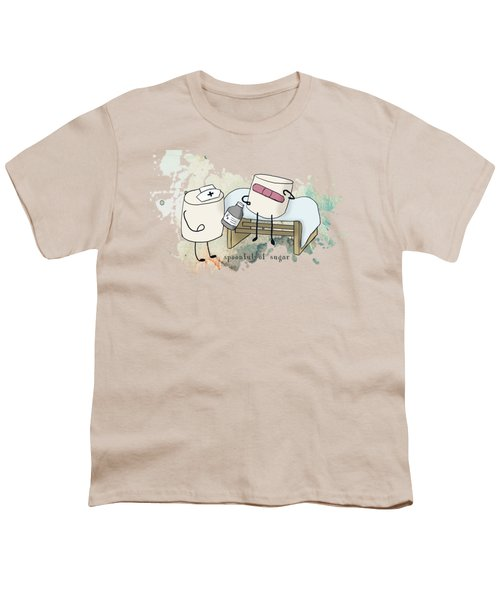 Spoonful Of Sugar Words Illustrated  Youth T-Shirt by Heather Applegate