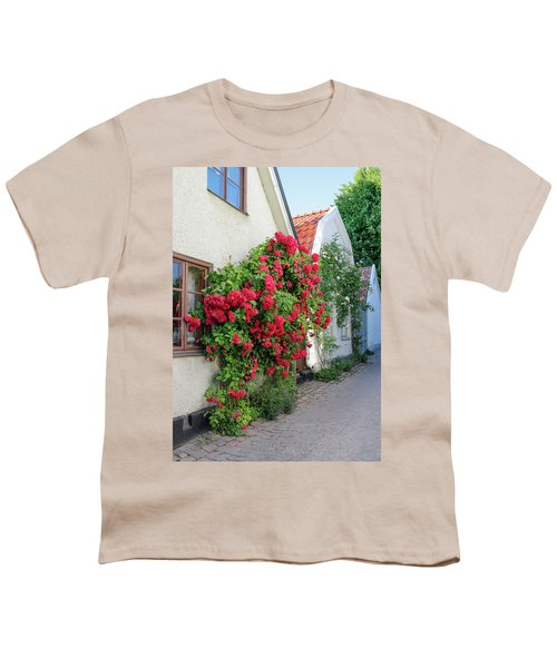 Swedish Town Visby, Famous For Its Roses Youth T-Shirt