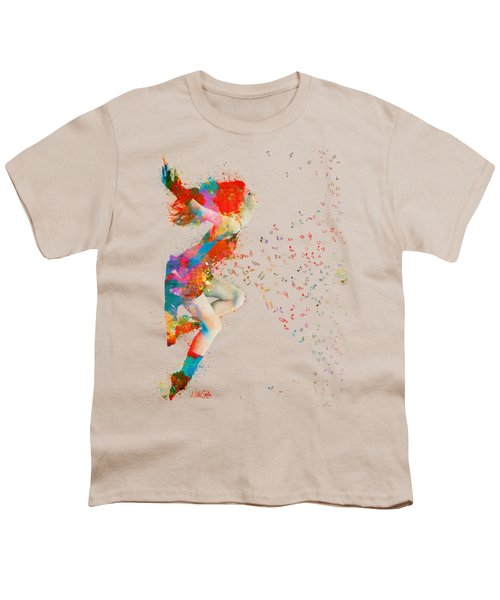Sweet Jenny Bursting With Music Youth T-Shirt by Nikki Smith