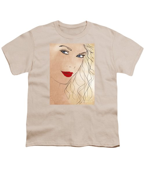 Taylor Red Lips Youth T-Shirt by Pablo Franchi