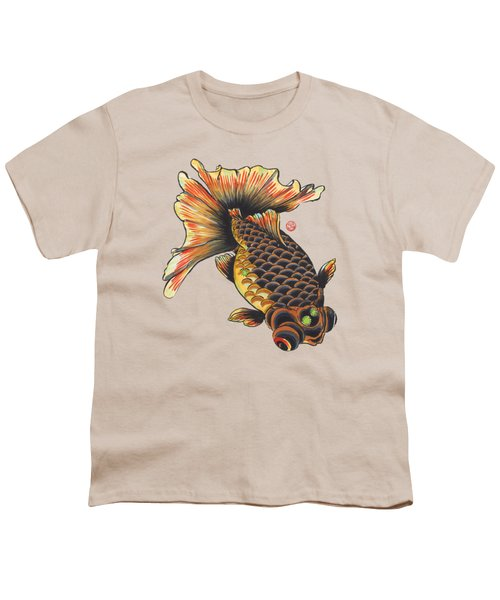 Telescope Goldfish Youth T-Shirt by Shih Chang Yang